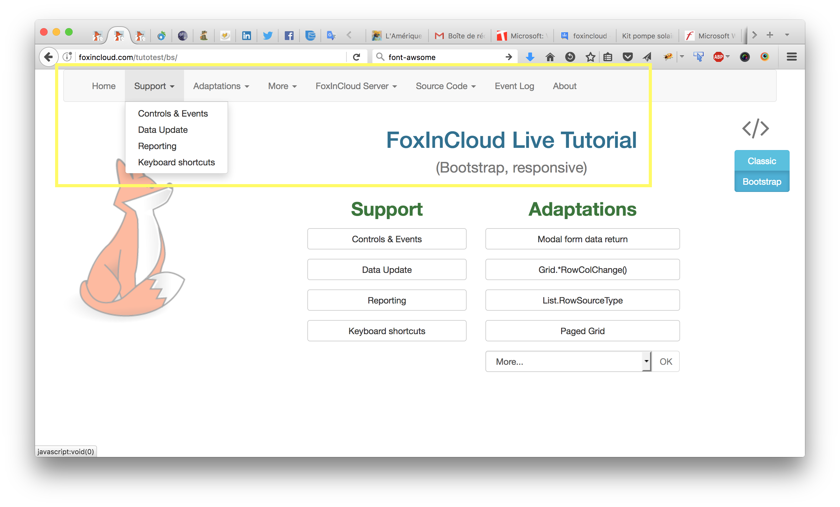 FoxInCloud 2 25 completes Bootstrap support and improves FAA