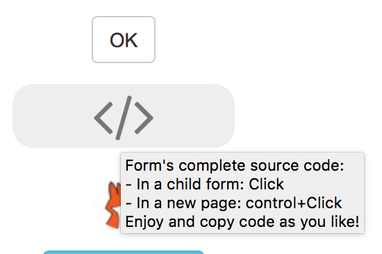 'Form VFP source code' button
