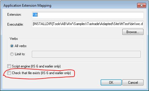 Updating IIS script-mapped extensions handlers using JavaScript